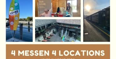 vier verschiedene Lehrlingsmessen Lehre in Vorarlberg